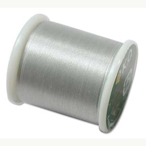 Japanese Nylon Beading K.O. Thread for Delica Beads - Light Grey 50 Meters