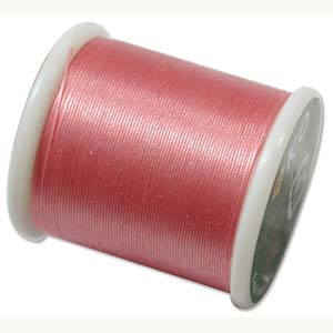 Japanese Nylon Beading K.O. Thread for Delica Beads - Rose Pink 50 Meters