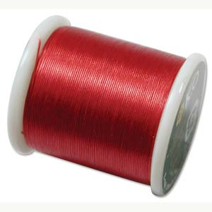 Japanese Nylon Beading K.O. Thread for Delica Beads - Garnet Red 50 Meters