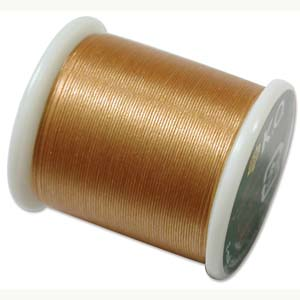 Japanese Nylon Beading K.O. Thread for Delica Beads - Gold 50 Meters