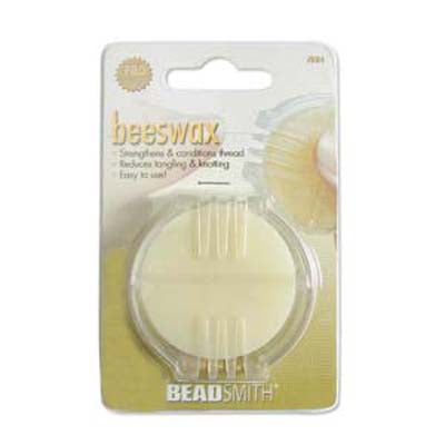 The Beadsmith Beeswax Thread Strengthening Conditioner for Beads/Quilting/Crafting