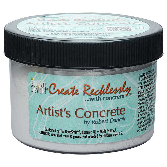 Create Recklessly, Artist's Concrete for Mixed Media, 8 Ounce Jar