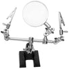 Third Hand Tool For Jewelry Repair, Includes Alligator Clips / Magnifier / Cast Iron Base