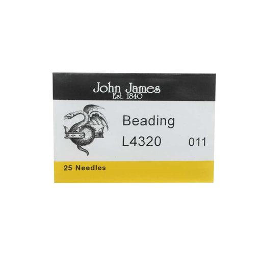 BeadSmith English Beading Needles, Size #11, 1 Pack of 25