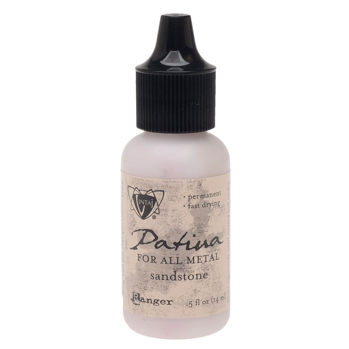 Vintaj Patina, Opaque Permanent Ink For Metal, 0.5 Ounce, Sandstone