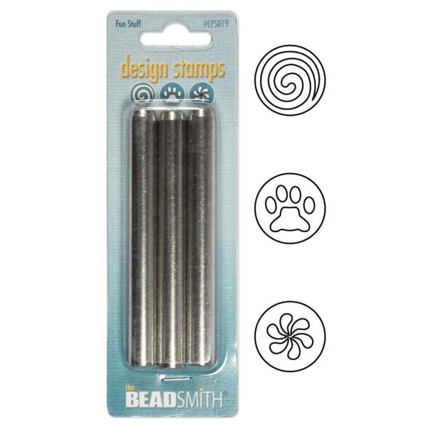 The Beadsmith 3 Piece 'Fun Stuff' Punch Set For Stamping Metal 3/16 Inch 5mm