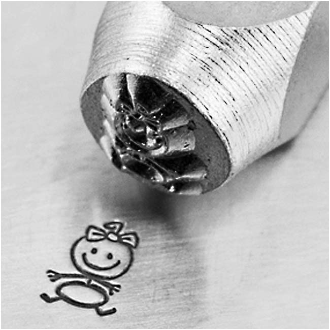 ImpressArt Metal Punch Stamp 'Baby Girl' 6mm (1/4 Inch) Design - 1 Piece