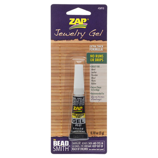 BeadSmith Zap Jewelry Gel, For Securing Cord / Braids to Clasps, 0.1 Ounce
