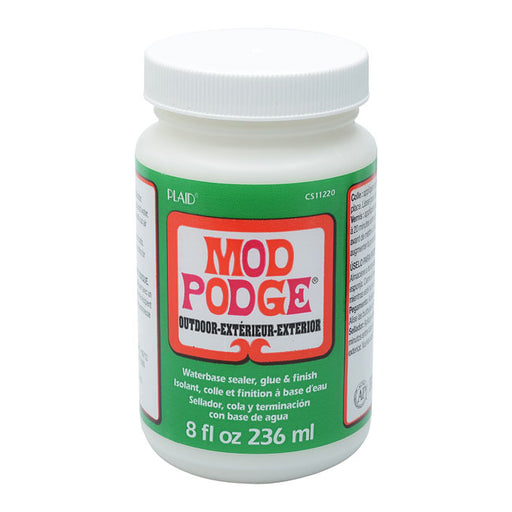 Mod Podge, Decoupage Sealer Glue Finish, Outdoor, 8 Ounce Bottle