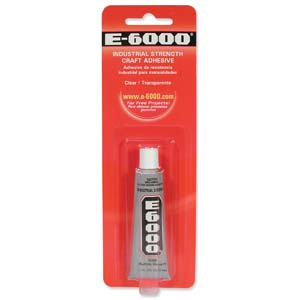 E6000 Industrial Strength Glue Adhesive  (1/2 Oz)