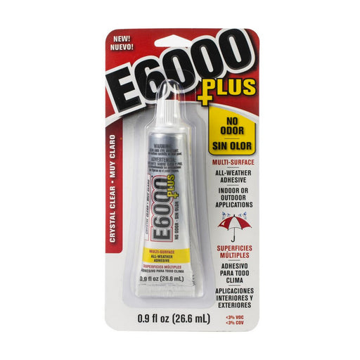 E6000 Plus, Industrial Strength Glue Adhesive, Odor Free (0.9 Oz)