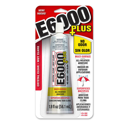 E6000 Plus, Industrial Strength Glue Adhesive, Odor Free (1.9 Oz)
