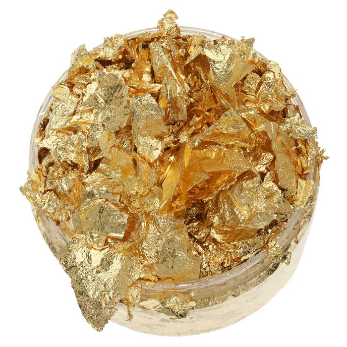Nuvo Gilding Flakes. Metallic Foil for Crafts, Radiant Gold, 200ml / 6.8.fl.oz