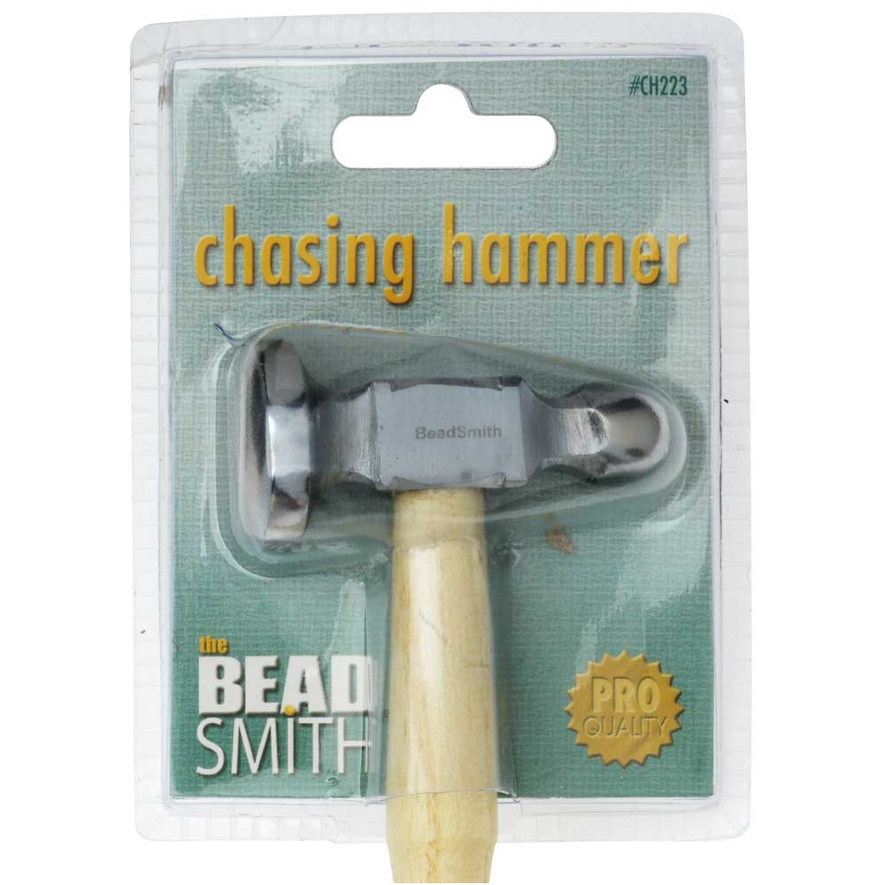 The Beadsmith Jeweler's Chasing Hammer - 1 Inch Head - Metal Smithing