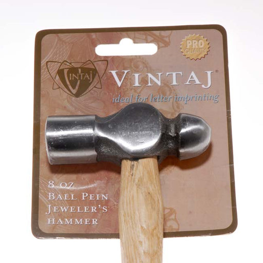 Vintaj Special Edition - 8 oz Ball Pein Hammer For Metal Smithing 3.2 Inch Head