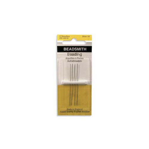 Beadsmith English Beading Needles Size 10 - 4 Needles