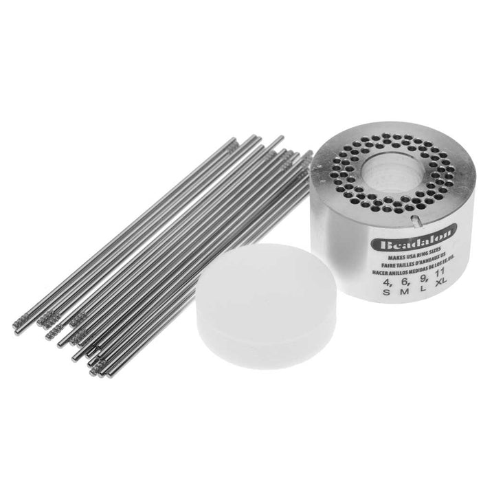 Beadalon Ring Weaver Tool, Aluminum Base with 18 Pins, Makes Sizes  4 / 6 / 9 & 11