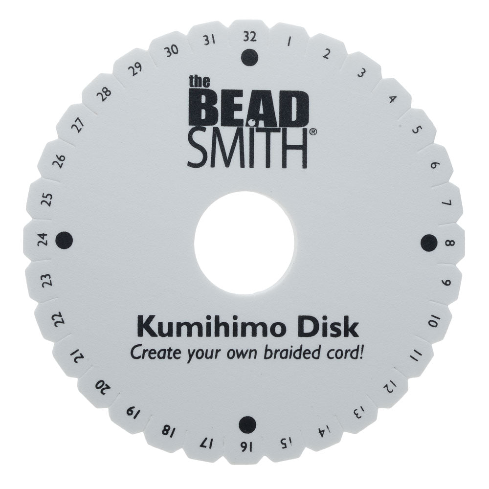 Beadsmith Lightweight Kumihimo Round Disc Disk For Japanese Braiding and Cording 35mm Hole