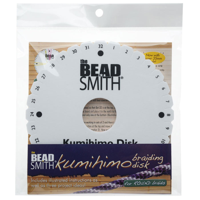 The Beadsmith Lightweight Kumihimo Round Disc Disk For Japanese Braiding and Cording 35mm Hole