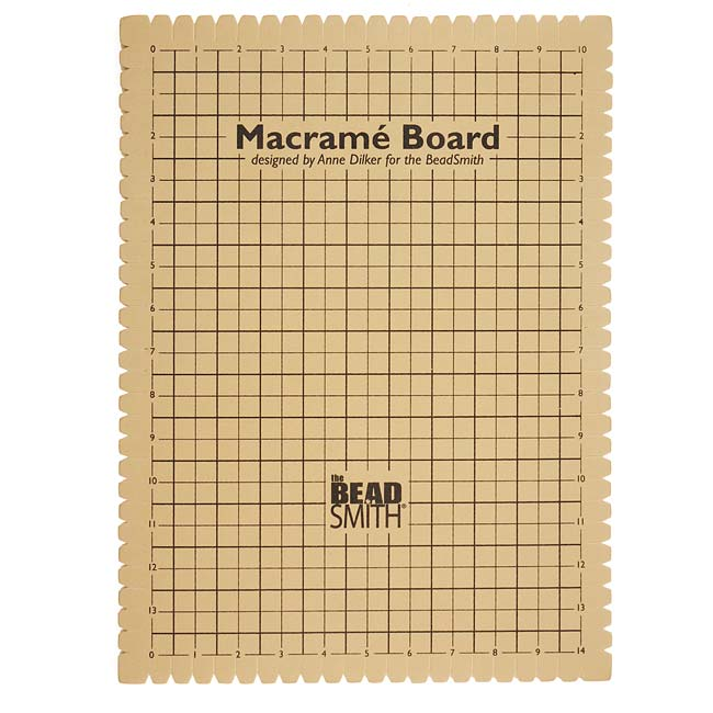 The Beadsmith Large Macrame Board For Braiding 14x10 Inches