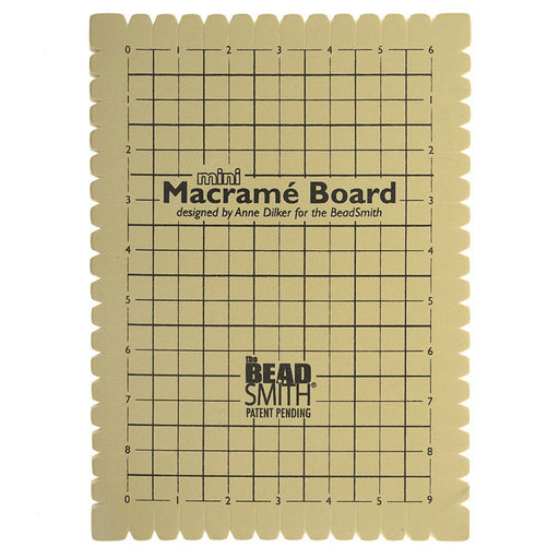 The Beadsmith Mini Macrame Board For Braiding 9x6 Inches