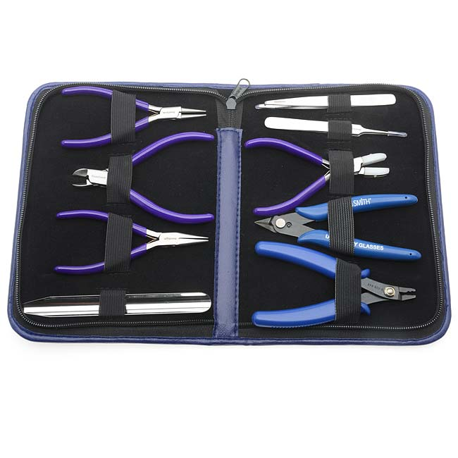 The Beadsmith Deluxe Jewelry Pliers Tool Kit 9 Piece w/ Case