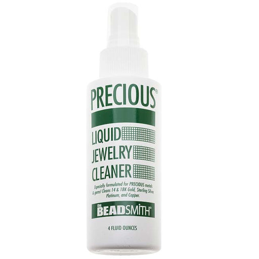 Beadsmith Precious Liquid Jewelry Cleaner - Spray On & Rinse - 4 Ounce Bottle