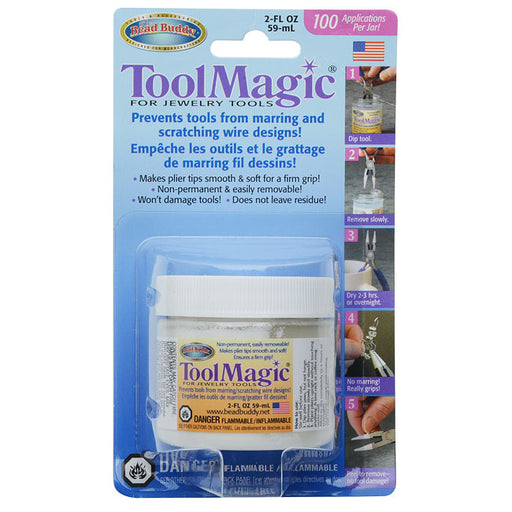Bead Buddy Tool Magic, Protective Rubber Coating for Tools, 2 Fluid Ounces, White