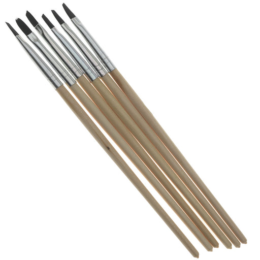 ICE Resin, Angled Paint Brushes for ICED Enamels & Paper Sealant, 6 Pack