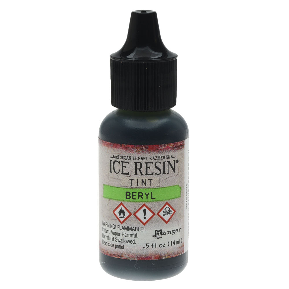 ICE Resin Tint, Adds Color and Swirls to Resin, 0.5 oz Bottle , Beryl Green