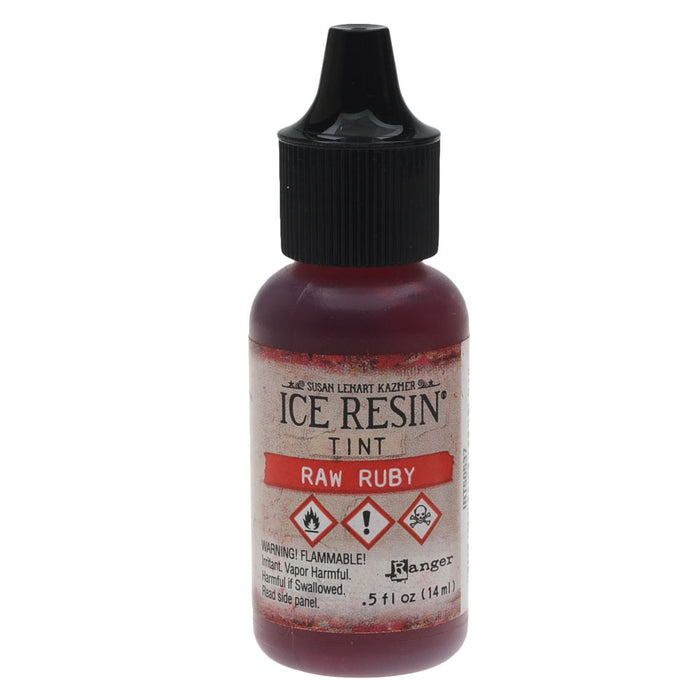 ICE Resin Tint, Adds Color and Swirls to Resin, 0.5 oz Bottle, Raw Ruby Red