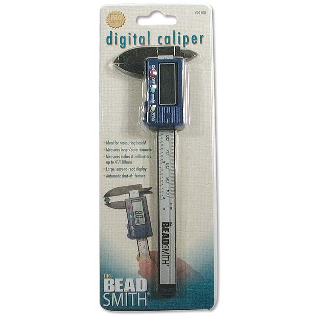 The Beadsmith Digital Caliper - Measures Inner/Outer Diameters In Inches/Millimeters