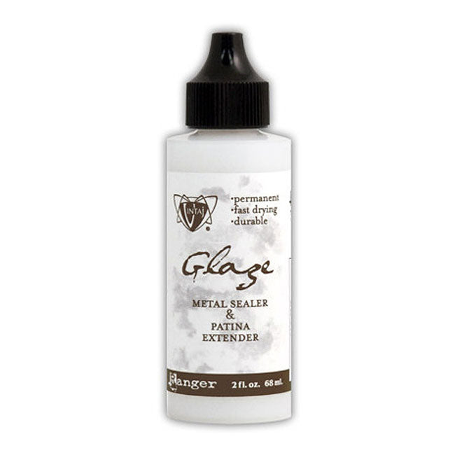 Vintaj Sealer Glaze For Inks, Patinas And Metal - 2 oz. Bottle