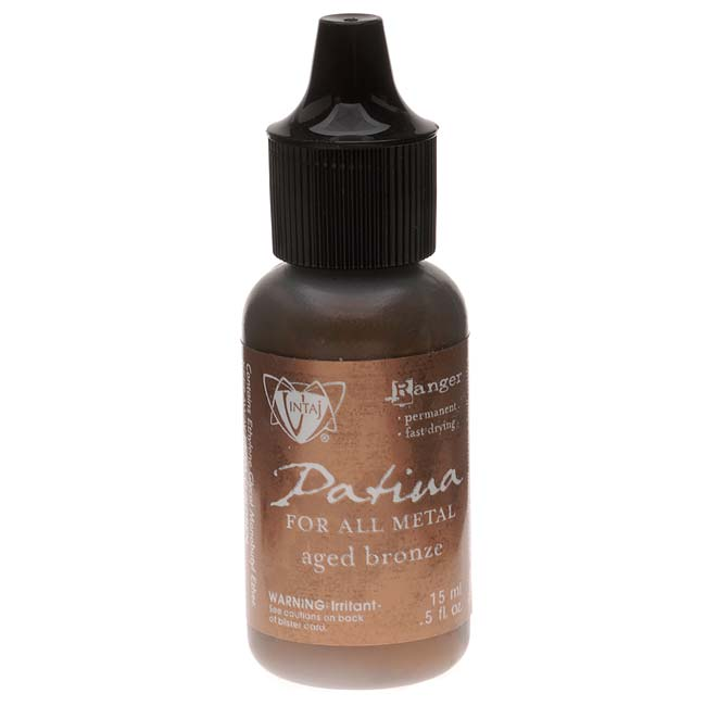 Vintaj Patina Opaque Permanent Ink - Aged Bronze - 0.5 Ounce Bottle