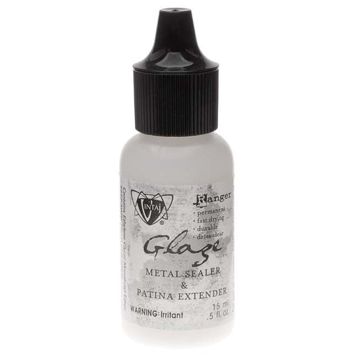 Vintaj Mini Glaze - Metal Sealer And Patina Extender - 0.5 Ounce Bottle