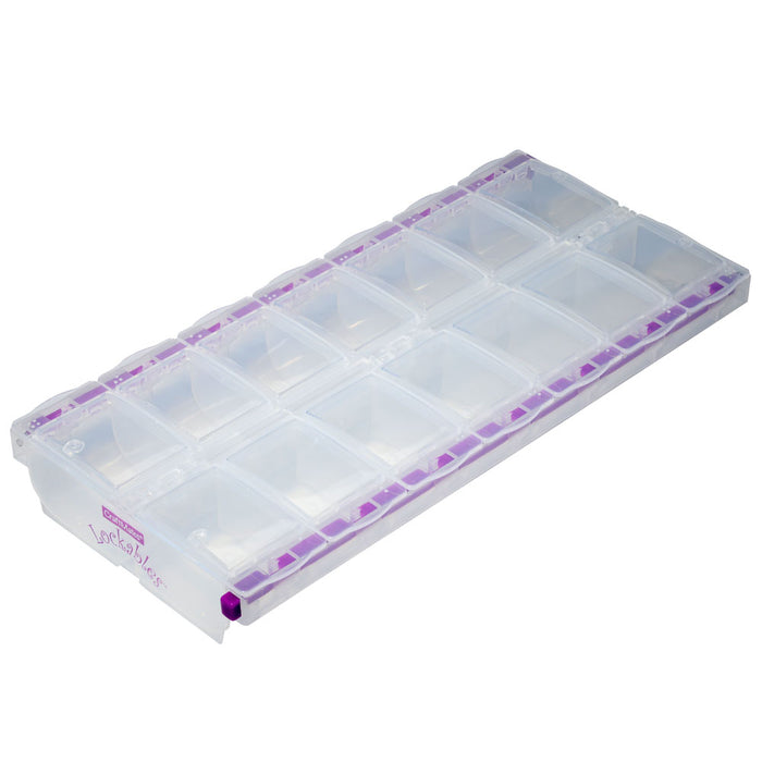 "Craft Mates Lockables Storage Container with 14 Compartments, 9"" x 4.5"", 1 Storage Container"