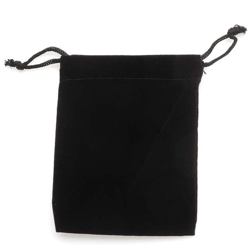 Black Velvet Drawstring Gift Bags 3 x 4 Inches (12)