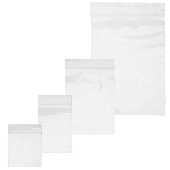 "Self Sealing Plastic Bag Assorted Variety Pack, 2x2"" 2x3"" 3x4"" 4x6"", 400 Pieces, Clear"