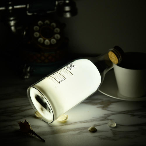 Lamp Milk Bottle DIY Message