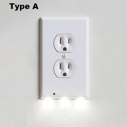 [lowest price]-Outlet Wall Plate With LED Night Lights-No Batteries Or Wires [UL FCC CSA certified] - whnsp