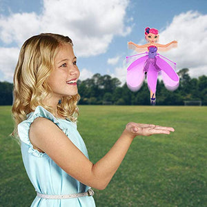 Mini Flying Fairy Infrared Induction Mini Airplane for Kids