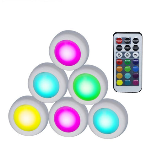 Wireless LED Puck Lights RGB 12 Colors