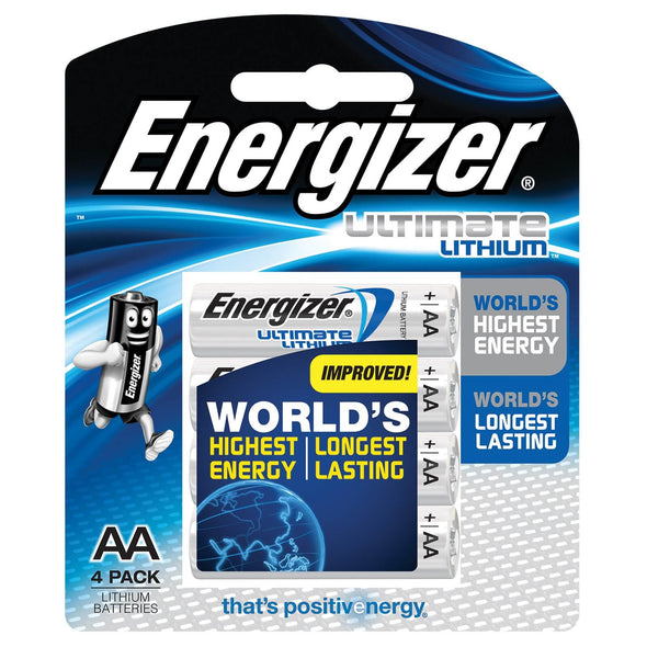 L91BP4T Lithium AA Ultimate Energizer 4 pack