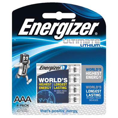 L92BP4T Lithium AAA Ultimate Energizer 4 pack