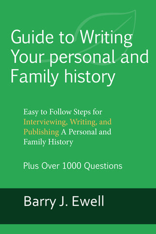Guide to Writing Your personal and Family history (ePub version)
