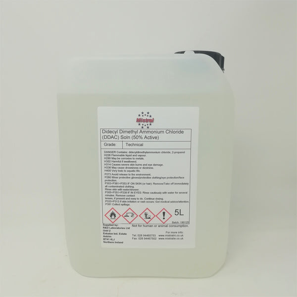 Didecyldimethylammonium Chloride DDAC 50%