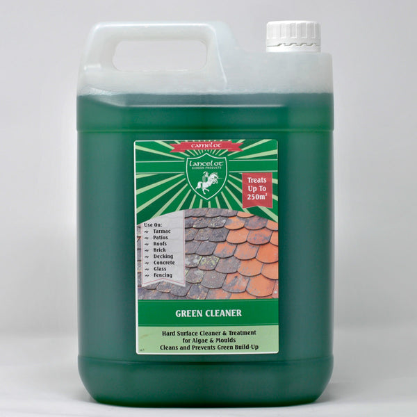 Lancelot Green Cleaner Concentrate - 5% DDAC Solution - Kills Mould, Algae and Lichen on Hard Surfaces
