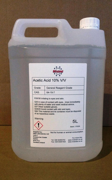 Acetic Acid 10% Ethanoic acid