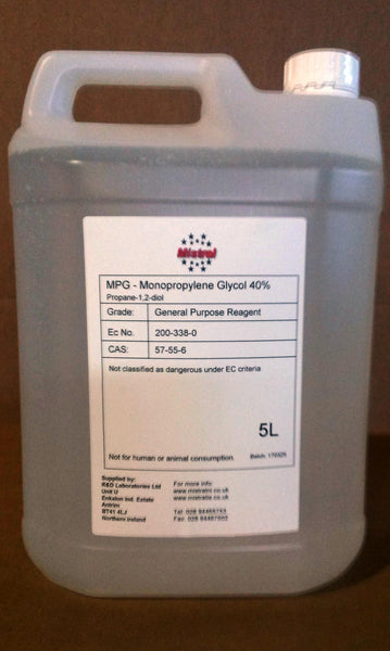 Propylene Glycol / MPG / PG - 40% v/v solution