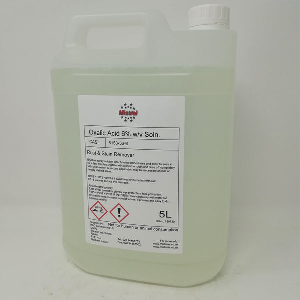Oxalic Acid 6% solution - Rust & Stain Remover